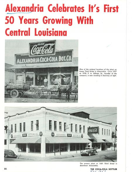 Alexandria Coca-Cola Historical Documents Article p1 cocacolaunited com