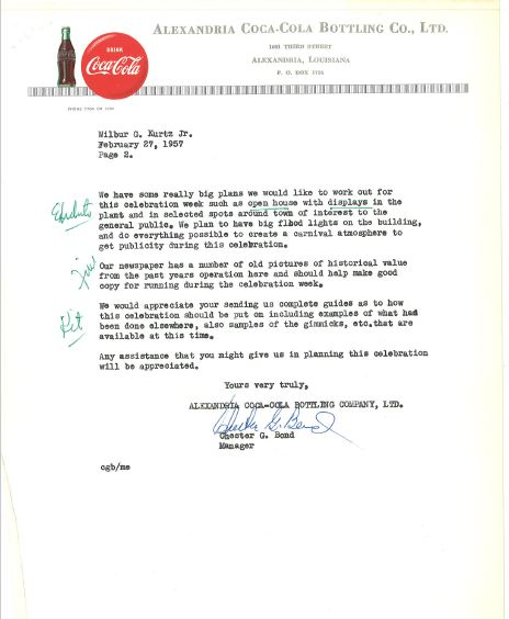 Alexandria Coca-Cola Historical Documents2 for cocacolaunited com