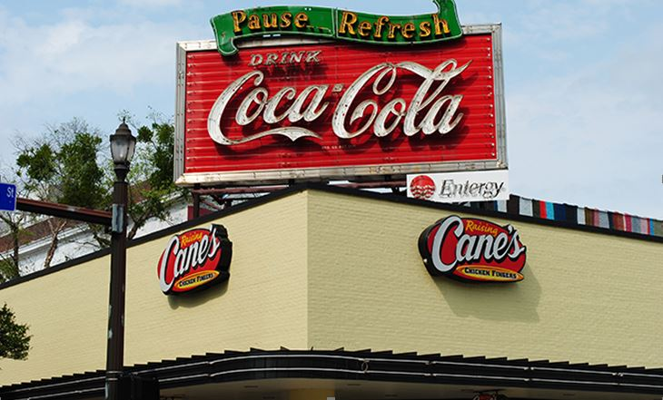 Baton Rouge Coca-Cola sign Third Street 2015 Restored