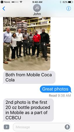 Production, Mobile Coca-Cola, Alabama, Coca-Cola UNITED, New Territories, SOF, 21st Century Beverage Model, System of the Future