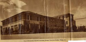 newspaper clipping that features pensacola coca cola headquarters