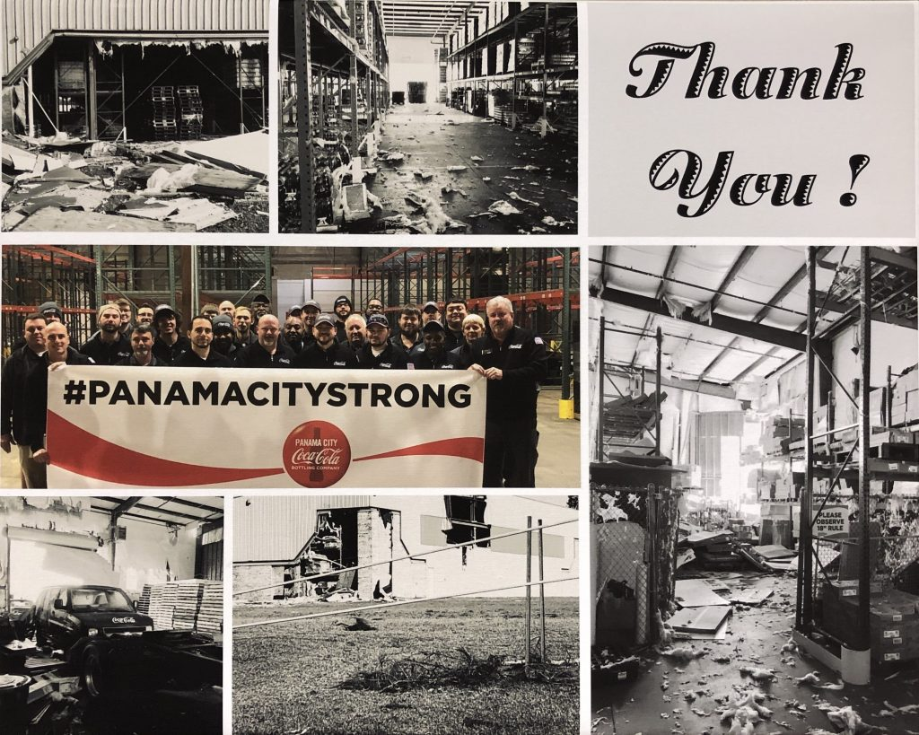 Thank you for giving, Coca-Cola UNITED, Hurricane Michael